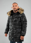 Parka Jacket KINGSTON All Black Camo - pitbullwestcoast