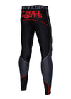 Compression PRO PLUS Pants Black/Red - pitbullwestcoast