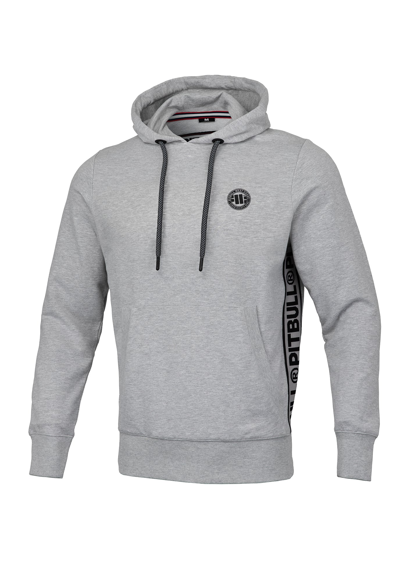 Hooded Small Logo FRENCH TERRY Grey - pitbullwestcoast