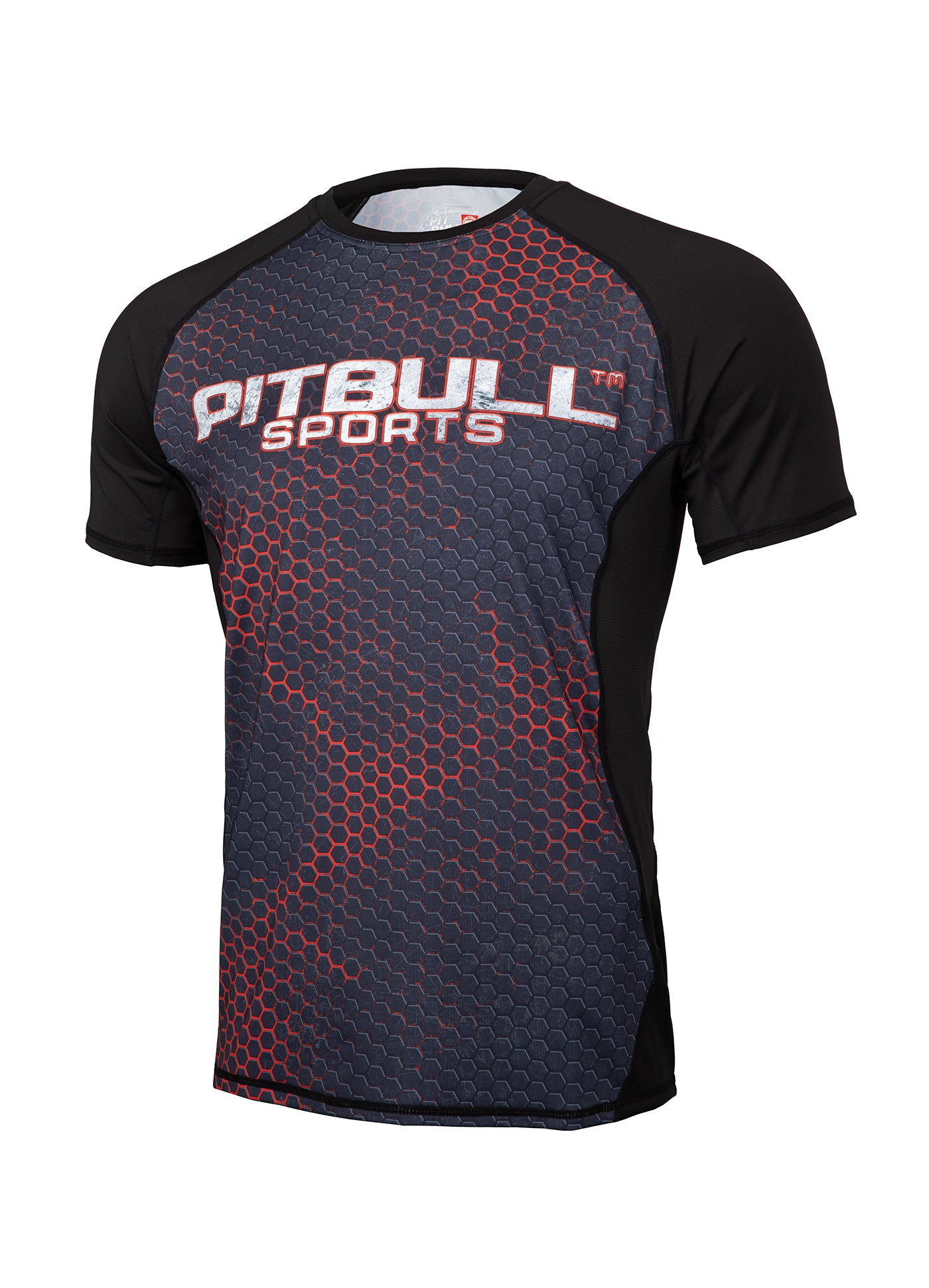 RASHGUARD PERFORMANCE MESH IRON LOGO - pitbullwestcoast