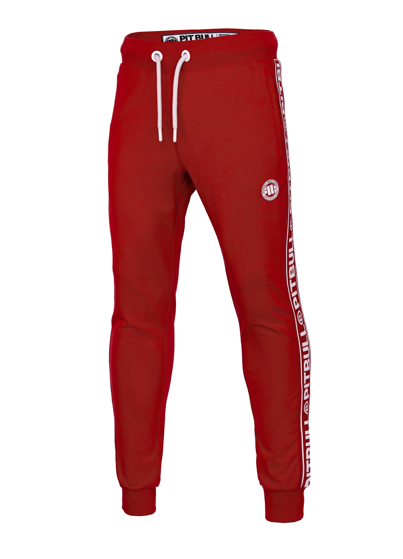 Joggers 'Small Logo' FRENCH TERRY Red - pitbullwestcoast
