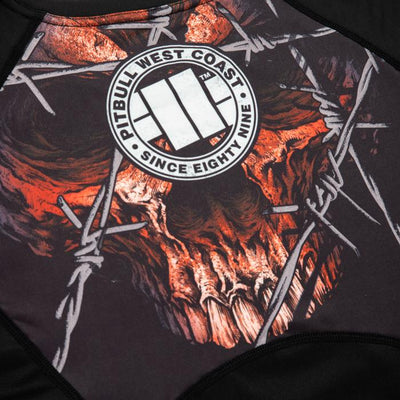 LONGSLEEVE RASHGUARD PERFORMANCE MESH WIRED SKULL