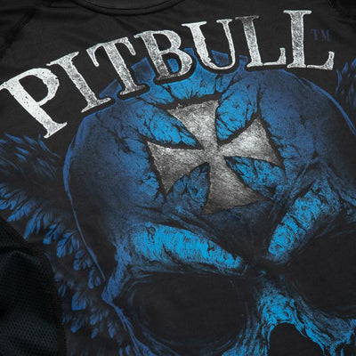 RASHGUARD PERFORMANCE BLUE SKULL - pitbullwestcoast