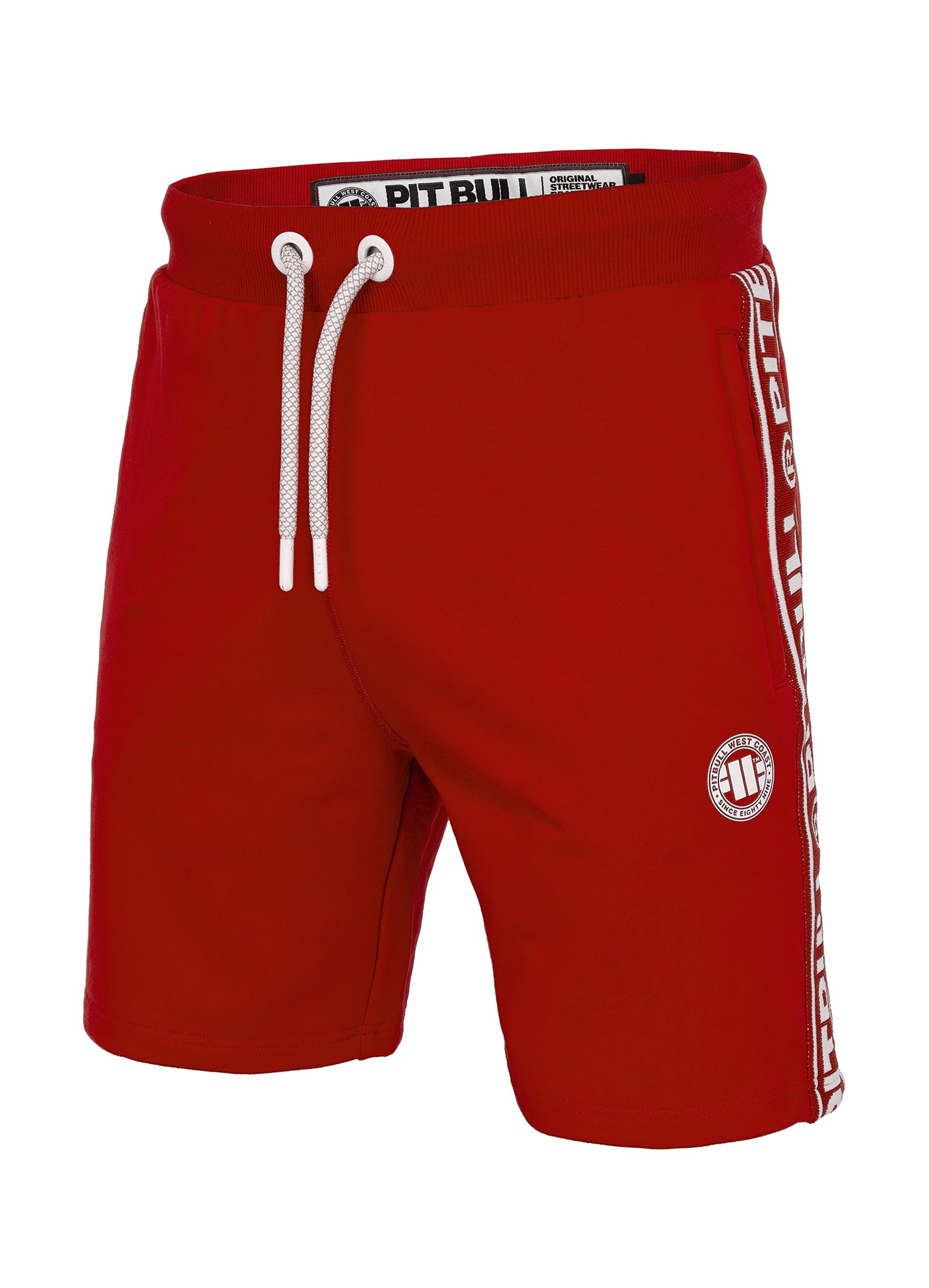 Shorts 'Small Logo' FRENCH TERRY Red - pitbullwestcoast