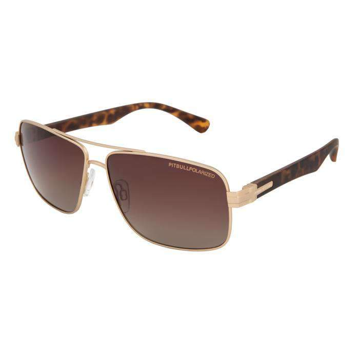 Sunglasses HOFER Gold/Brown - pitbullwestcoast