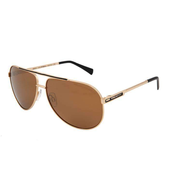 Sunglasses ROXTON Gold/Brown - pitbullwestcoast