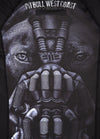 RASHGUARD SHORT SLEEVE BANE BLACK - pitbullwestcoast