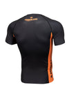 RASHGUARD SHORT SLEEVE ORANGE DOG 2020 BLACK - pitbullwestcoast