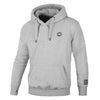 pit bull west coast hoodie small logo grey