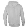 pit bull west coast hoodie small logo grey back