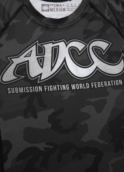 ADCC All Black Camo Short Sleeve Rashguard - pitbullwestcoast