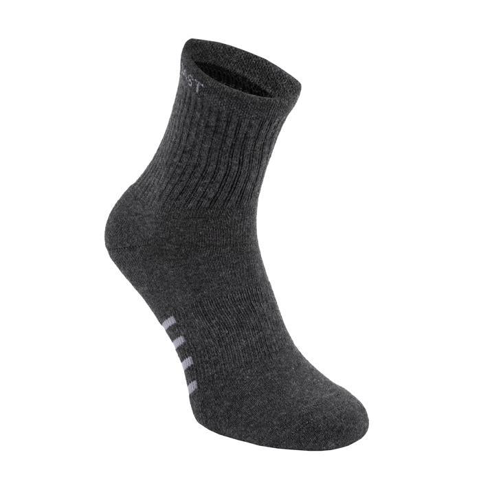High Ankle Thin Socks 3pack Charcoal - pitbullwestcoast
