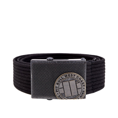 Webbing Belt Logo Black Pitbull West Coast