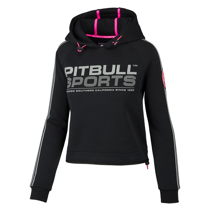 Women ATHLETICA Hooded Black - pitbullwestcoast