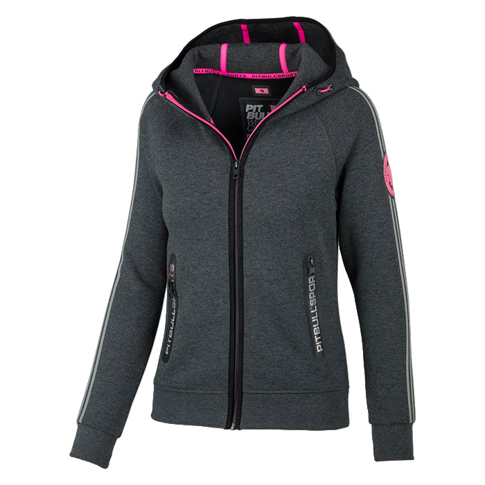 Women MONROE Zipped Hoodie - pitbullwestcoast