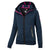 Women MONROE Zipped Hoodie Dark Navy - pitbullwestcoast