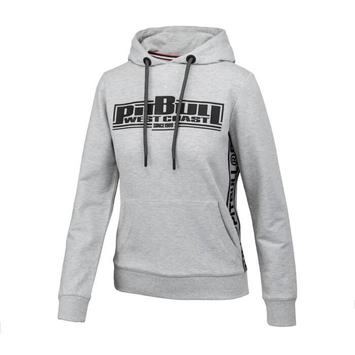 Women hooded 'BOXING' FRENCH TERRY Grey - pitbullwestcoast