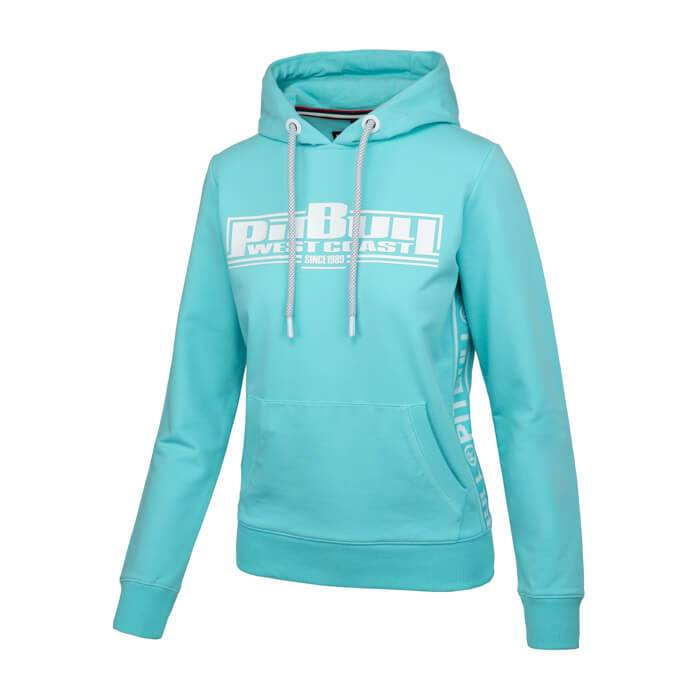 Women hooded 'BOXING' FRENCH TERRY Blue - pitbullwestcoast