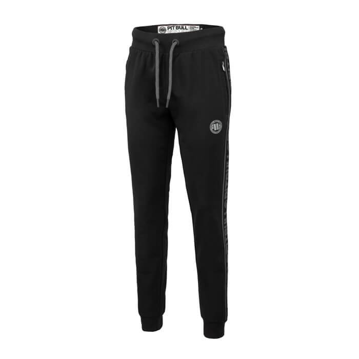 Women joggers 'Small Logo' FRENCH TERRY Black - pitbullwestcoast
