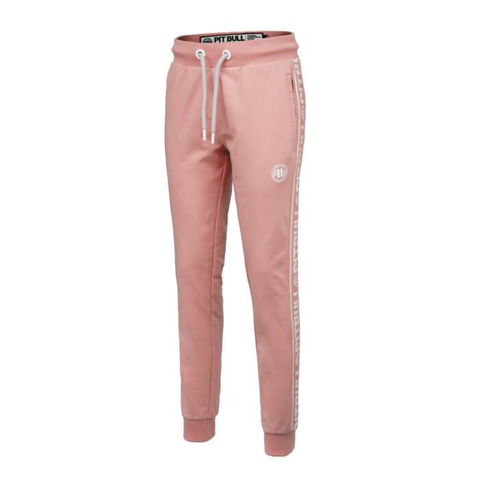 Women joggers 'Small Logo' FRENCH TERRY Pink - pitbullwestcoast