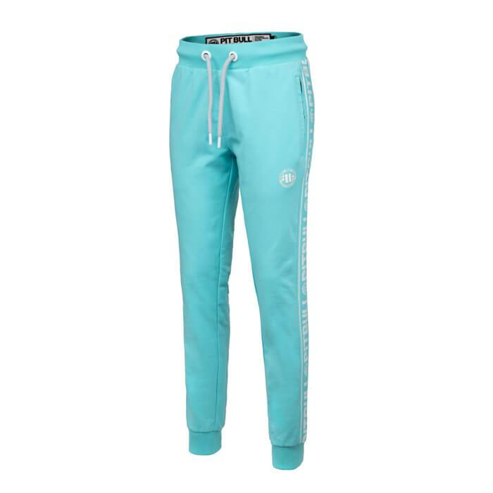 Women joggers 'Small Logo' FRENCH TERRY Blue - pitbullwestcoast