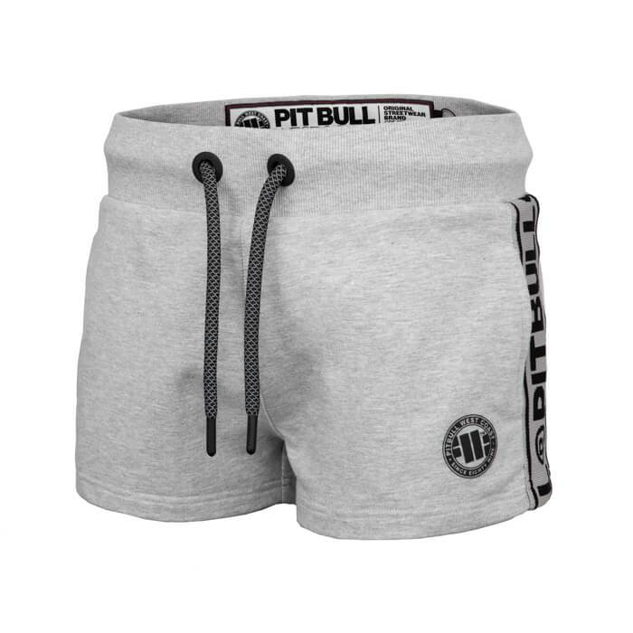 Women shorts 'Small Logo' FRENCH TERRY Grey - pitbullwestcoast