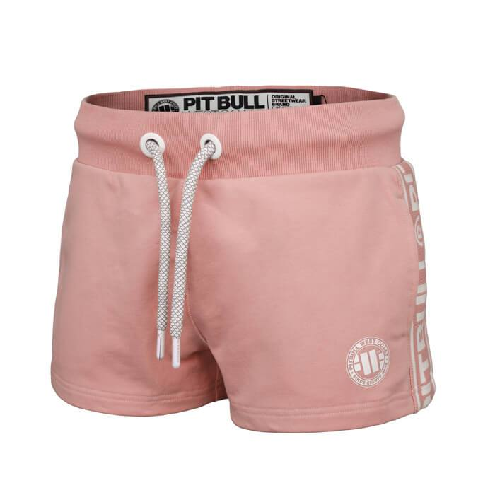 Women shorts 'Small Logo' FRENCH TERRY Pink - pitbullwestcoast