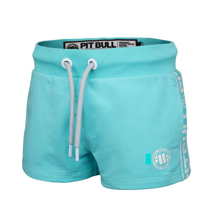 Women shorts 'Small Logo' FRENCH TERRY Blue - pitbullwestcoast