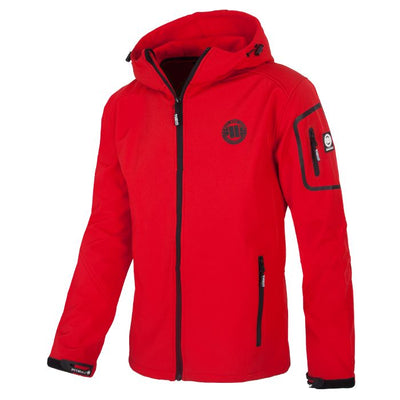 Softshell Jacket MIDVALE Red - pitbullwestcoast