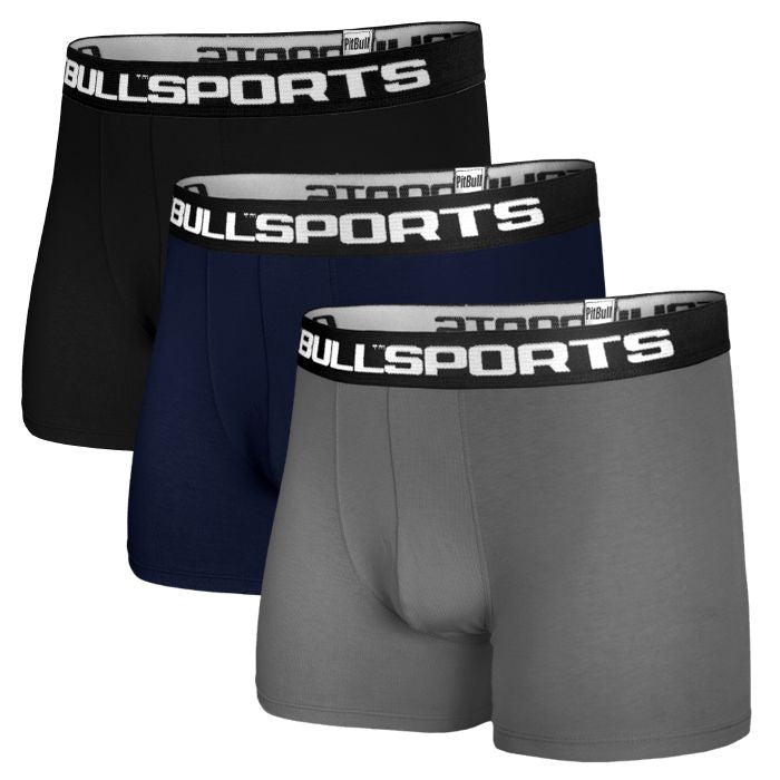 Pit Bull 3-pack Boxers Black/D.Navy/Grey