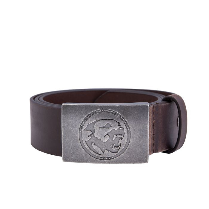 Leather Belt BONES Brown - pitbullwestcoast