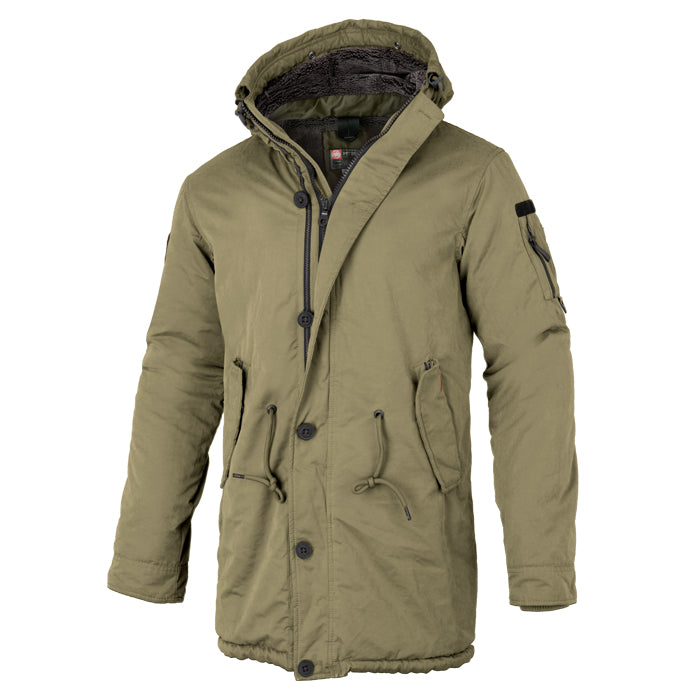 Men's Parka Jacket HEMLOCK 2 Olive - pitbullwestcoast