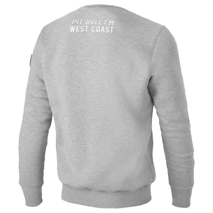 pitbull west coast crewneck sweatshirt cal flag grey