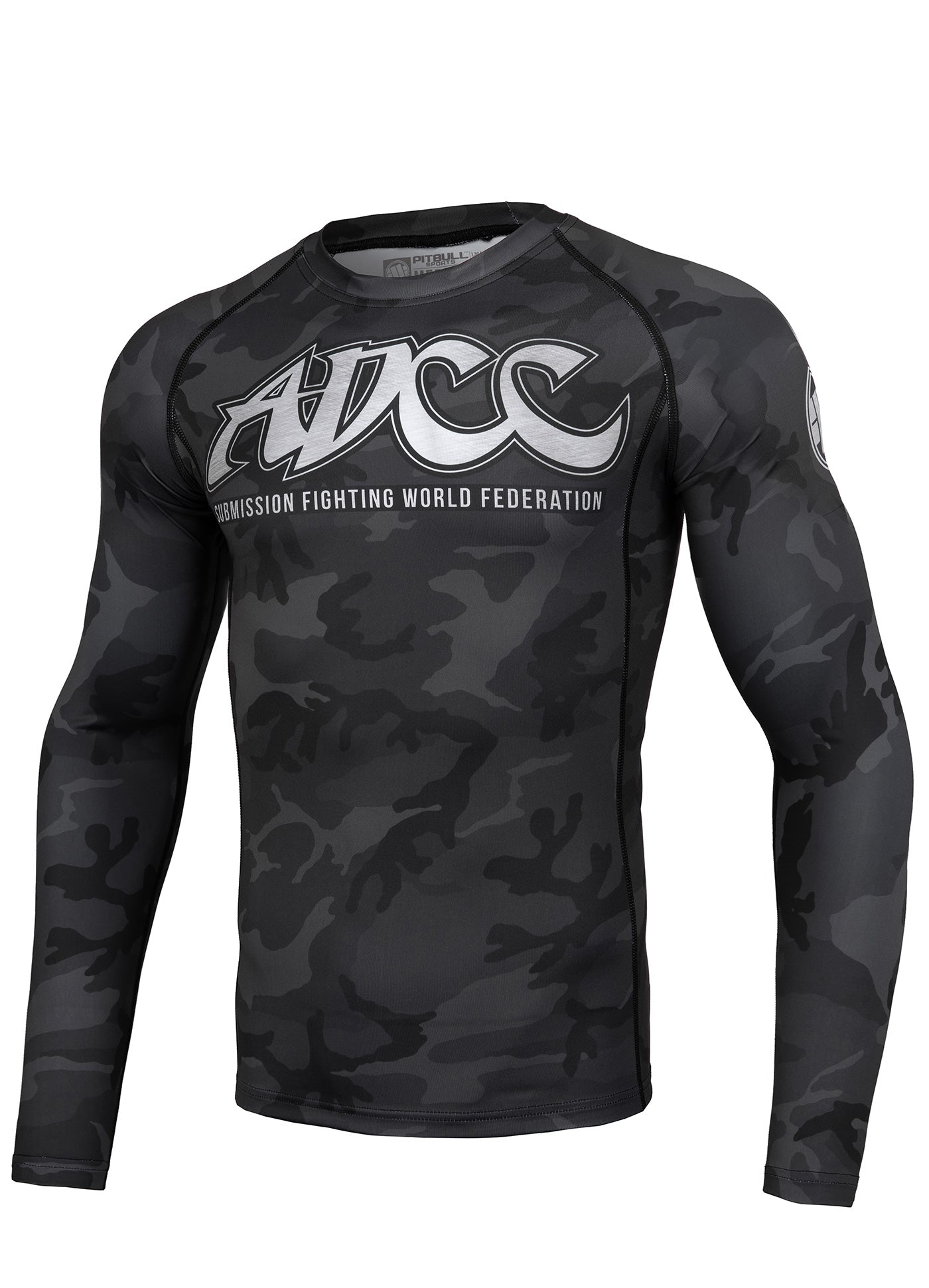 ADCC ALL BLACK Long Sleeve Rashguard - pitbullwestcoast