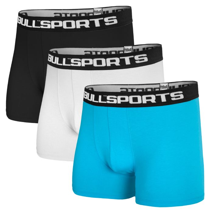 Pit Bull 3-pack Boxers Blue/Black/White