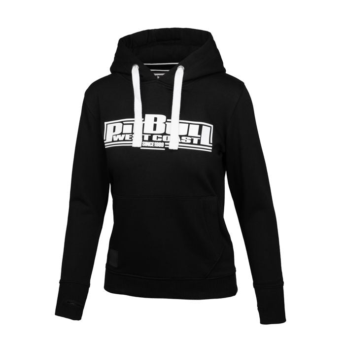Women BOXING Hoodie Black - pitbullwestcoast