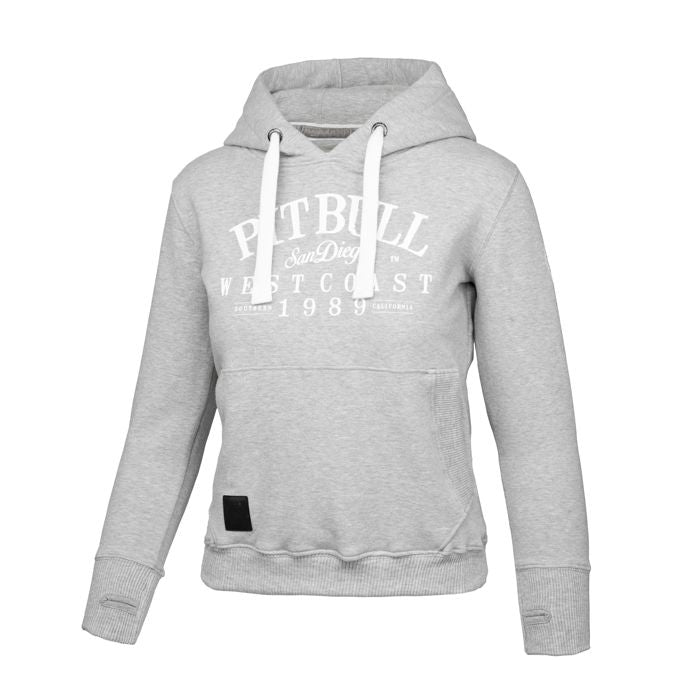 Women OLD SCHOOL Hoodie Grey - pitbullwestcoast