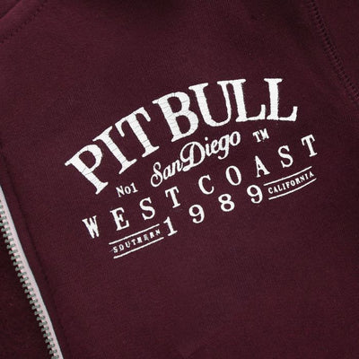 Hooded Sweatjacket OLD SCHOOL Burgundy