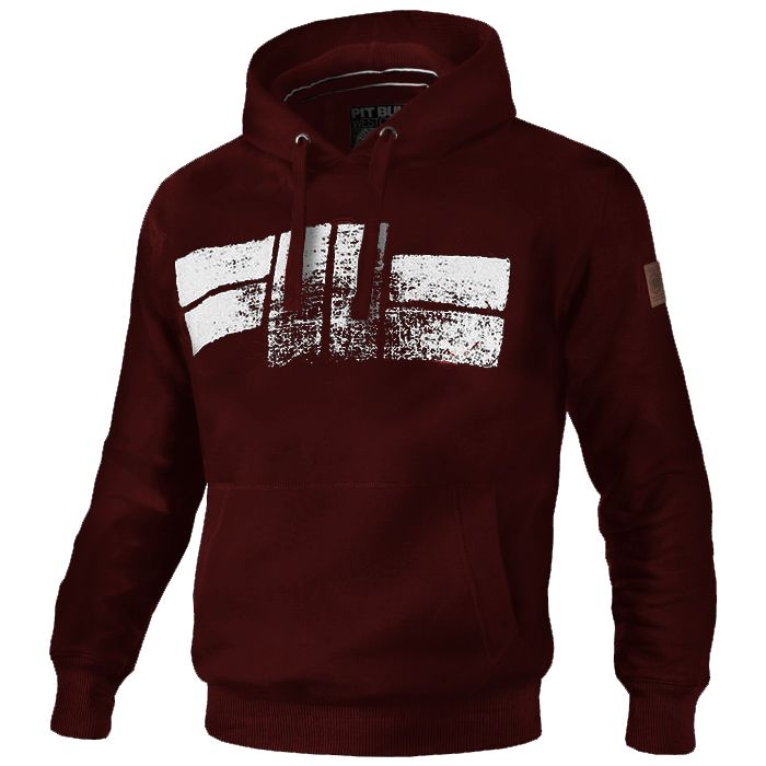 Classic Logo Hooded Burgundy - pitbullwestcoast