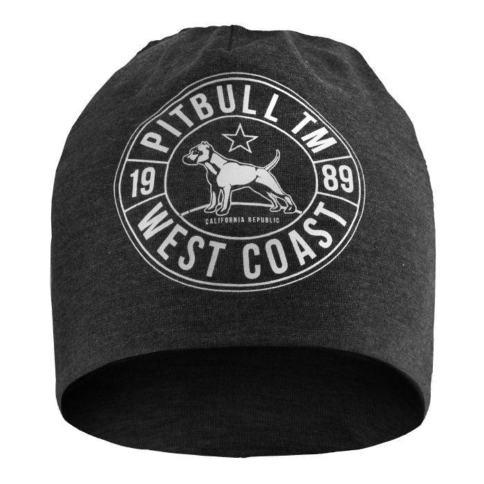 Beanie CAL FLAG Charcoal - pitbullwestcoast