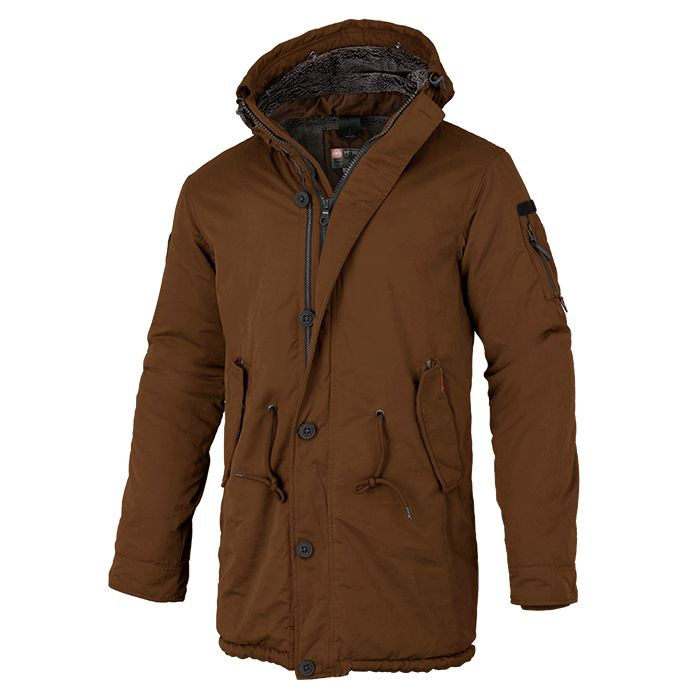 Men's Parka Jacket HEMLOCK 2 Brown - pitbullwestcoast