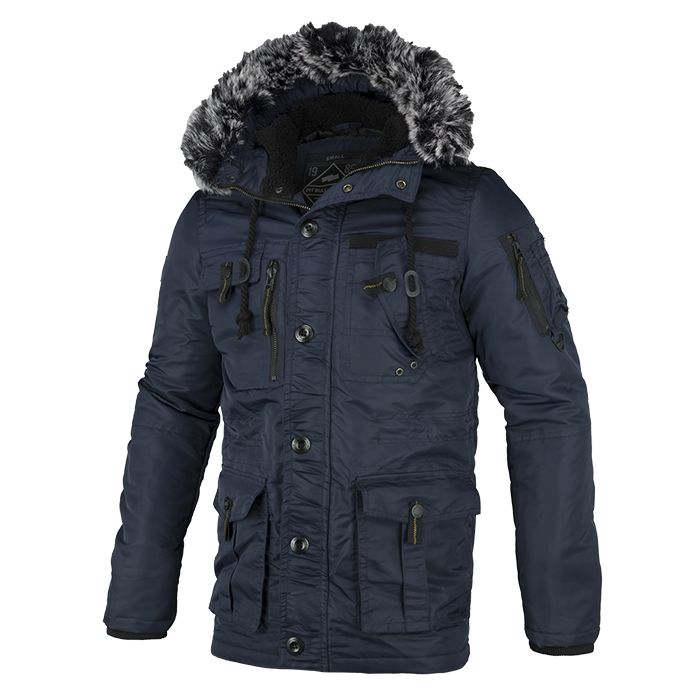 Winter Jacket ROWCLIFF Dark Navy - pitbullwestcoast