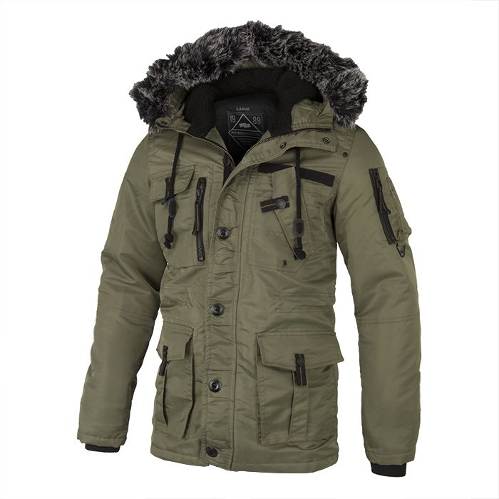 Winter Jacket ROWCLIFF Olive - pitbullwestcoast