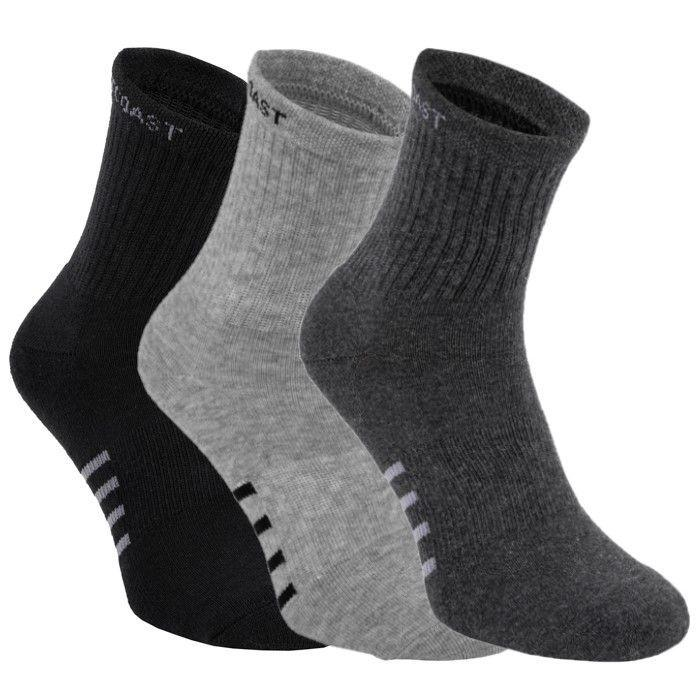 High Ankle Socks 3pack Black/Grey/Charcoal - pitbullwestcoast