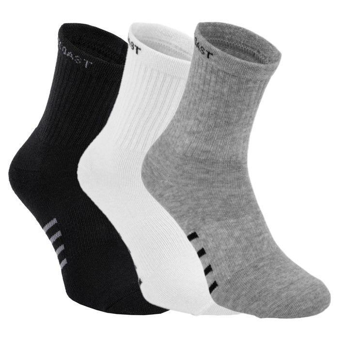High Ankle Socks 3pack White/Grey/Black - pitbullwestcoast