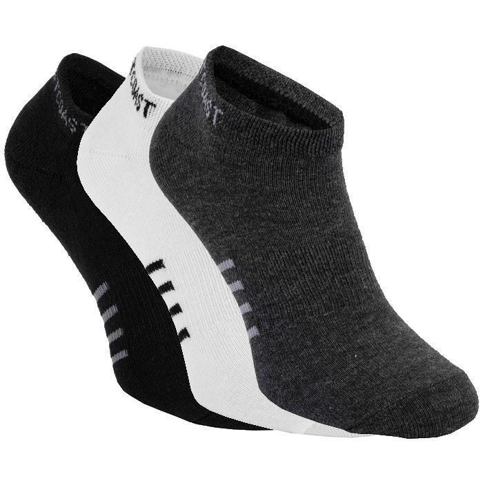 Thin Pad Socks 3pack White/Charcoal/Black - pitbullwestcoast