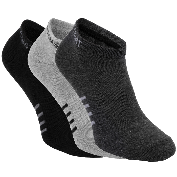 Thin Pad Socks 3pack Black/Grey/Charcoal - pitbullwestcoast