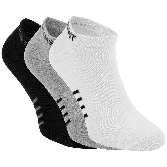 Thin Pad Socks 3pack White/Grey/Black - pitbullwestcoast