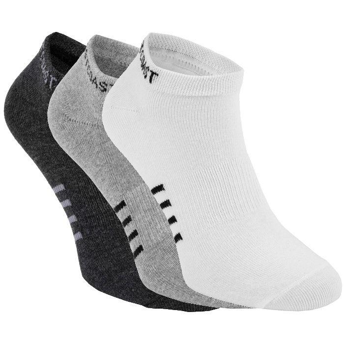 Thin Pad Socks 3pack White/Grey/Charcoal - pitbullwestcoast