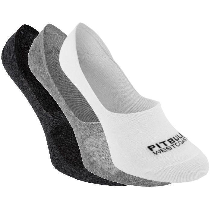 Thin Super No Show Socks 3pack White/Grey/Charcoal - pitbullwestcoast